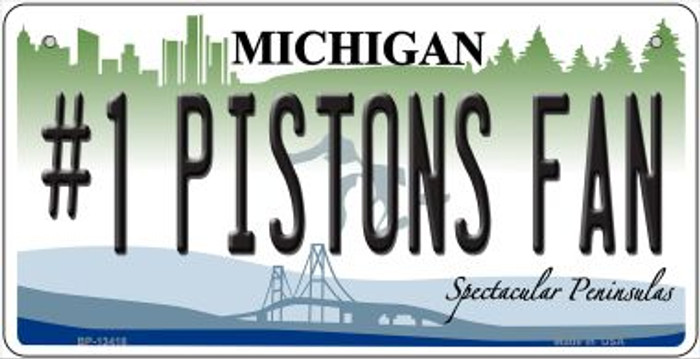 Number 1 Pistons Fan Novelty Metal Bicycle Plate BP-13418