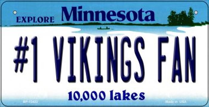 Number 1 Vikings Fan Novelty Metal Bicycle Plate BP-13422