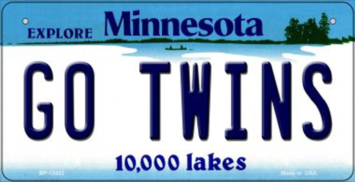 Go Twins Novelty Metal Bicycle Plate BP-13423