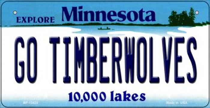 Go Timberwolves Novelty Metal Bicycle Plate BP-13425