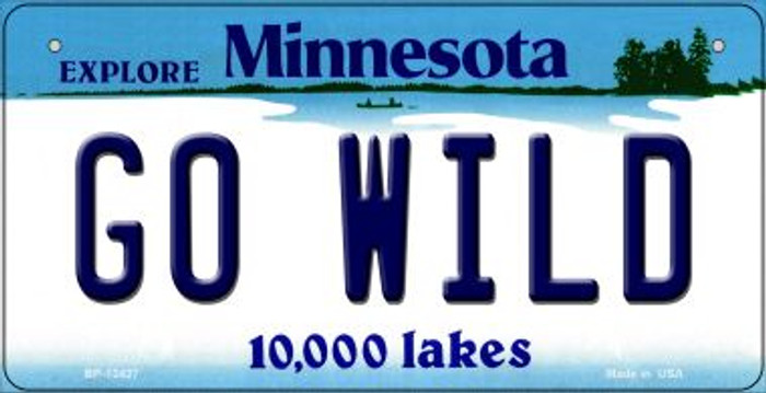 Go Wild Novelty Metal Bicycle Plate BP-13427