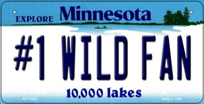 Number 1 Wild Fan Novelty Metal Bicycle Plate BP-13428