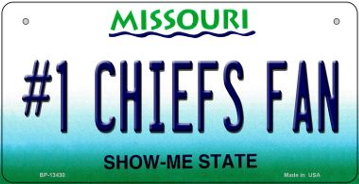 Number 1 Chiefs Fan Novelty Metal Bicycle Plate BP-13430