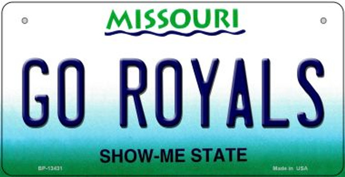 Go Royals Novelty Metal Bicycle Plate BP-13431