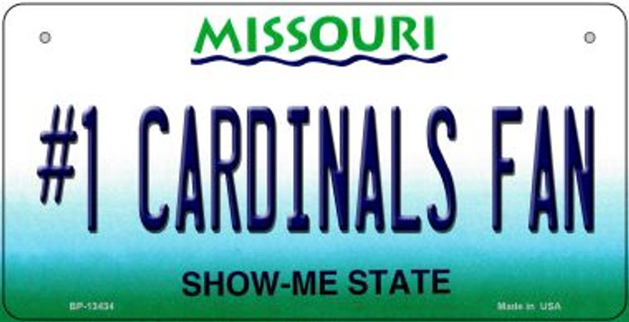 Number 1 Cardinals Fan Novelty Metal Bicycle Plate BP-13434