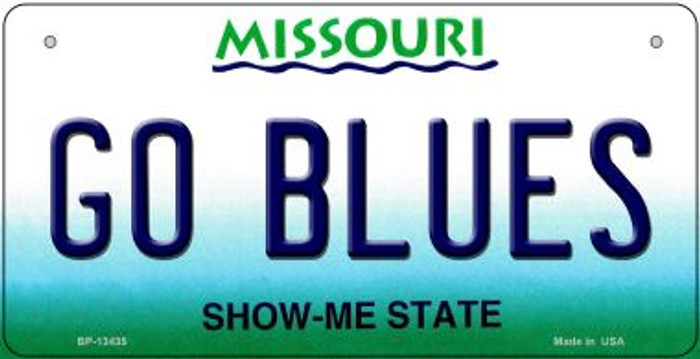 Go Blues Novelty Metal Bicycle Plate BP-13435