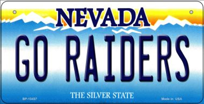 Go Raiders Novelty Metal Bicycle Plate BP-13437