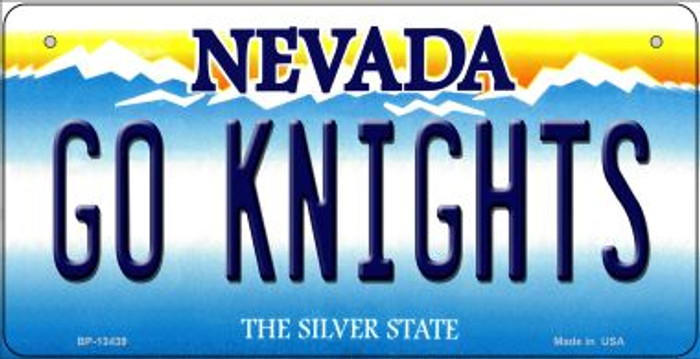 Go Golden Knights Novelty Metal Bicycle Plate BP-13439