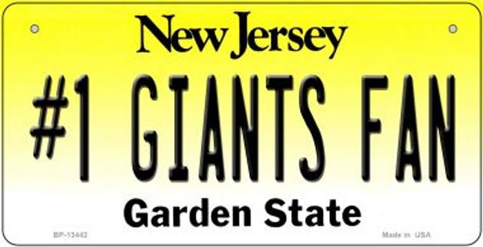 Number 1 Giants Fan Novelty Metal Bicycle Plate BP-13442