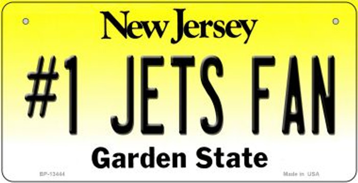 Number 1 Jets Fan Novelty Metal Bicycle Plate BP-13444