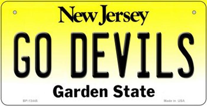 Go Devils Novelty Metal Bicycle Plate BP-13445