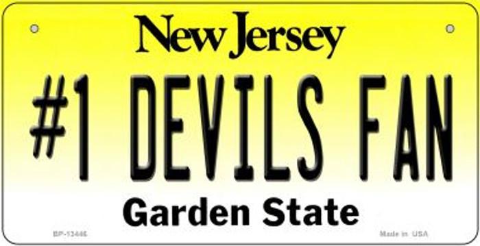 Number 1 Devils Fan Novelty Metal Bicycle Plate BP-13446