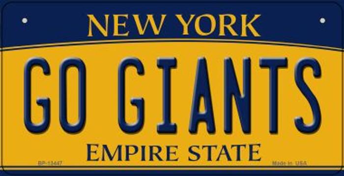 Go Giants Novelty Metal Bicycle Plate BP-13447