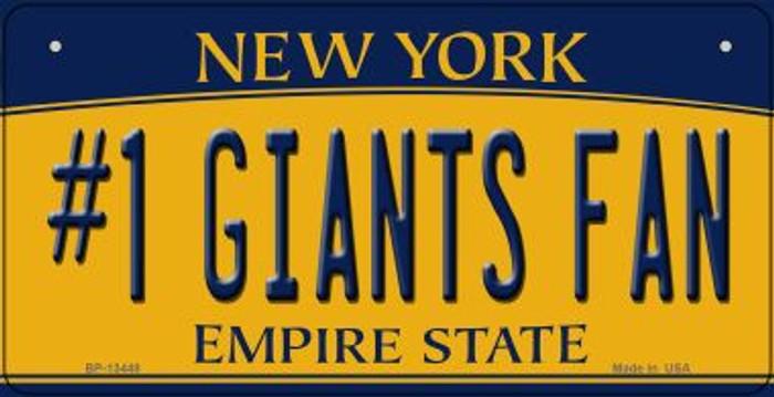 Number 1 Giants Fan Novelty Metal Bicycle Plate BP-13448