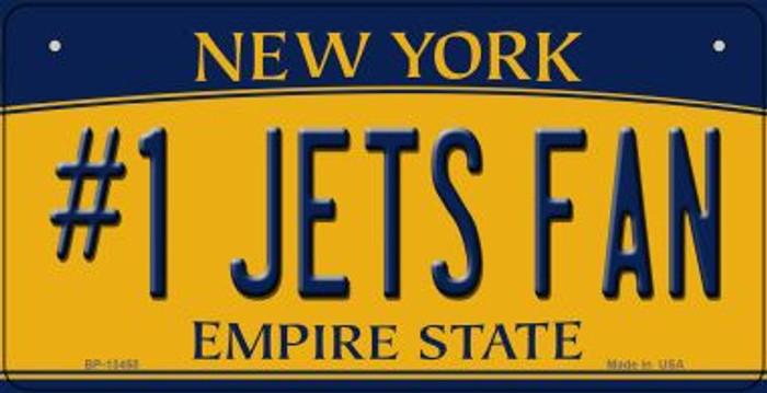 Numbers 1 Jets Fan Novelty Metal Bicycle Plate BP-13450