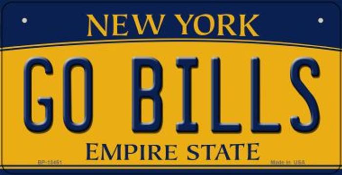 Go Bills Novelty Metal Bicycle Plate BP-13451