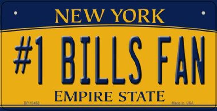 Number 1 Bills Fan Novelty Metal Bicycle Plate BP-13452