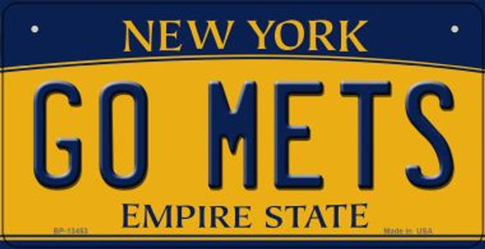 Go Mets Novelty Metal Bicycle Plate BP-13453