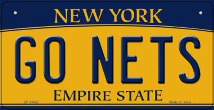 Go Nets Novelty Metal Bicycle Plate BP-13457