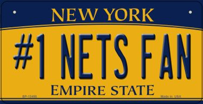 Number 1 Nets Fan Novelty Metal Bicycle Plate BP-13458
