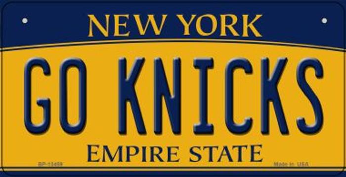 Go Knicks Novelty Metal Bicycle Plate BP-13459