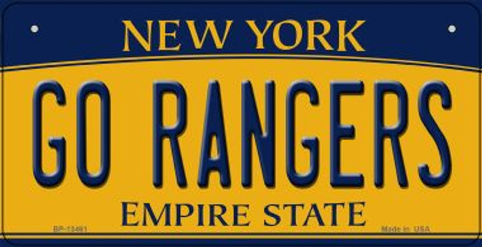 Go Rangers Novelty Metal Bicycle Plate BP-13461