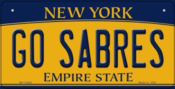 Go Sabres Novelty Metal Bicycle Plate BP-13463