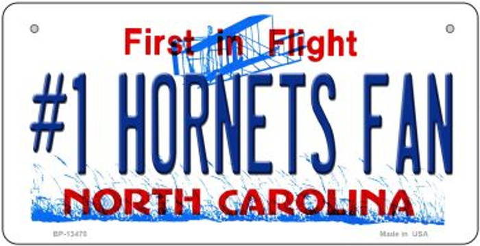 Number 1 Hornets Fan Novelty Metal Bicycle Plate BP-13470