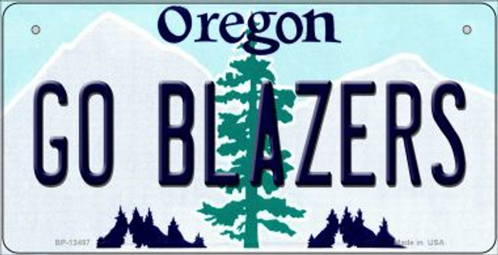 Go Blazers Novelty Metal Bicycle Plate BP-13487