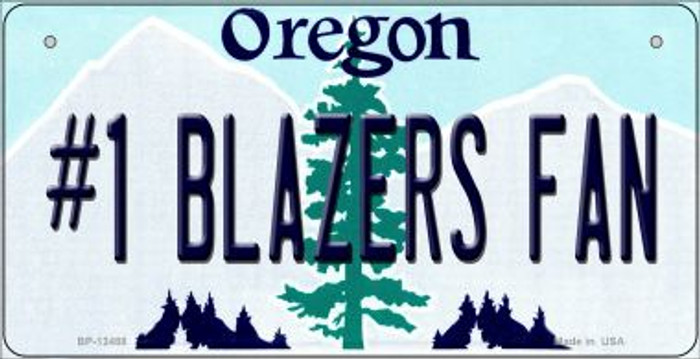 Number 1 Blazers Fan Novelty Metal Bicycle Plate BP-13488