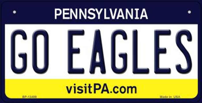 Go Eagles Novelty Metal Bicycle Plate BP-13489