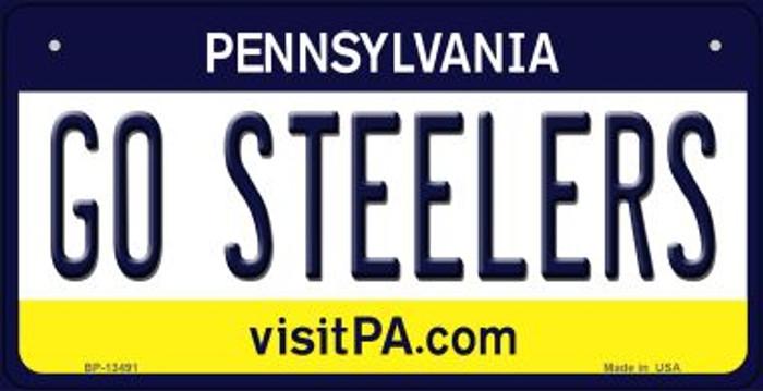Go Steelers Novelty Metal Bicycle Plate BP-13491