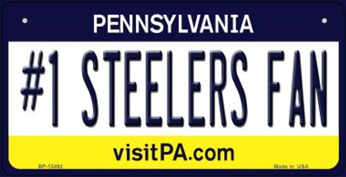 Number 1 Steelers Fan Novelty Metal Bicycle Plate BP-13492