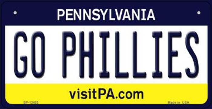 Go Phillies Novelty Metal Bicycle Plate BP-13493