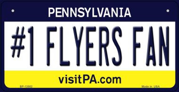 Number 1 Flyers Fan Novelty Metal Bicycle Plate BP-13502