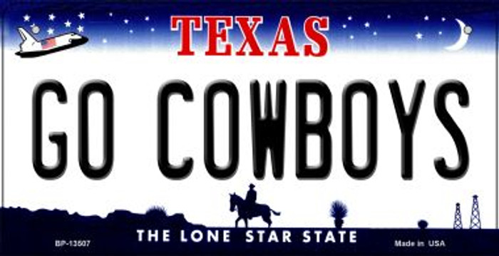 Go Cowboys Novelty Metal Bicycle Plate BP-13507