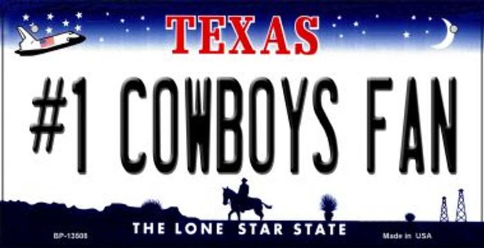 Number 1 Cowboys Fan Novelty Metal Bicycle Plate BP-13508