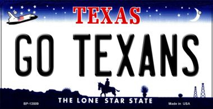 Go Texans Novelty Metal Bicycle Plate BP-13509