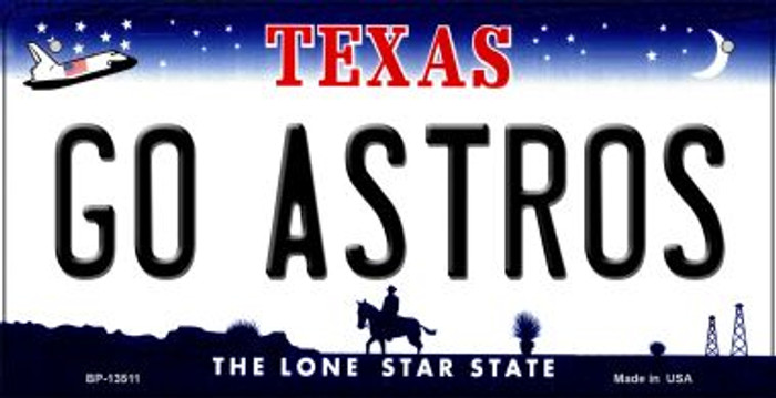 Go Astros Novelty Metal Bicycle Plate BP-13511
