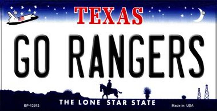 Go Rangers Novelty Metal Bicycle Plate BP-13513