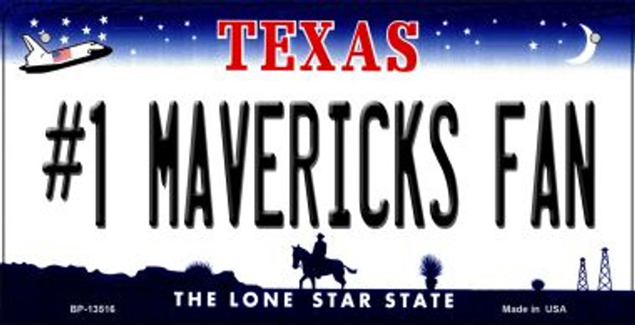 Number 1 Mavericks Fan Novelty Metal Bicycle Plate BP-13516