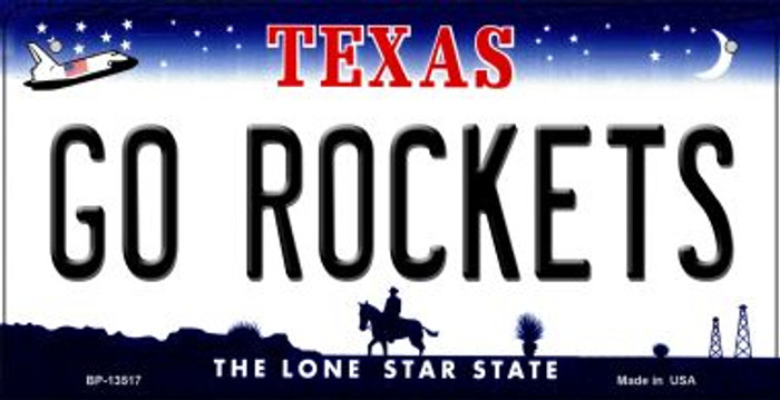 Go Rockets Novelty Metal Bicycle Plate BP-13517