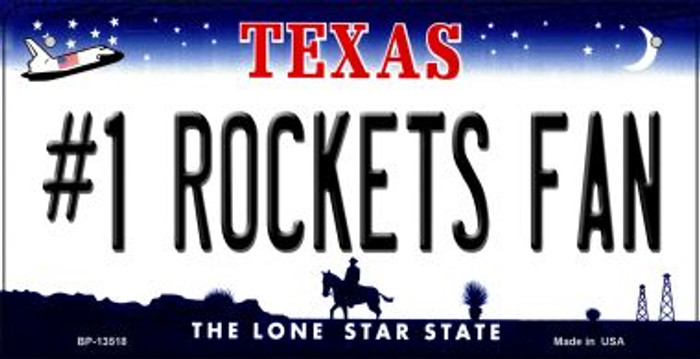 Number 1 Rockets Fan Novelty Metal Bicycle Plate BP-13518