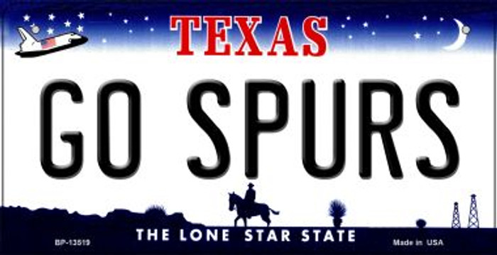 Go Spurs Novelty Metal Bicycle Plate BP-13519
