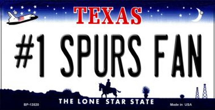 Number 1 Spurs Fan Novelty Metal Bicycle Plate BP-13520