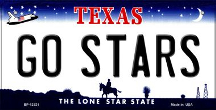 Go Stars Novelty Metal Bicycle Plate BP-13521