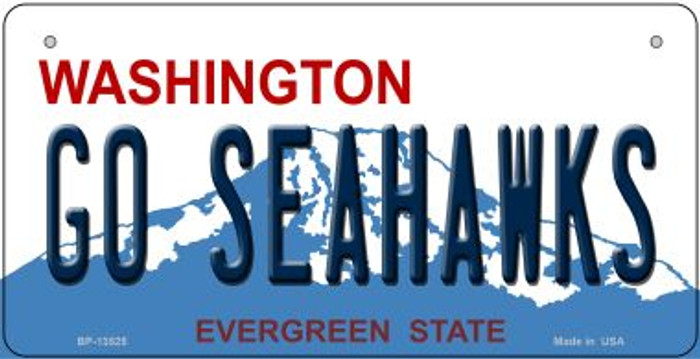 Go Seahawks Novelty Metal Bicycle Plate BP-13525