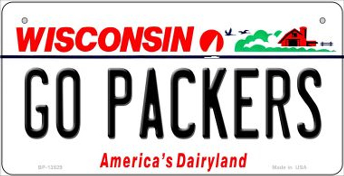 Go Packers Novelty Metal Bicycle Plate BP-13529