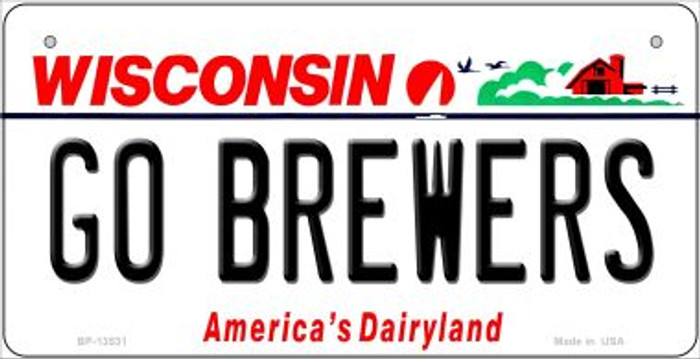 Go Brewers Novelty Metal Bicycle Plate BP-13531