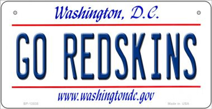 Go Redskins Novelty Metal Bicycle Plate BP-13535
